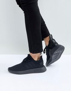 reputable site 65577 daea0 adidas Originals NMD R2 Trainers In all Black All Black Adidas, All Black  Sneakers,