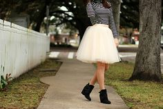 dipped in yellow | stripes & tulle