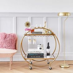 Discover additional details on bar cart decor. Have a look Discover additional details on bar cart decor. Have a look at our web site. Balc… Discover additional details on bar cart decor. Have a look at our web site. Diy Bar Cart, Gold Bar Cart, Bar Cart Decor, Home Depot, Pub Table Sets, Bar Tables, Balcony Chairs, Pub Set, Bar Furniture