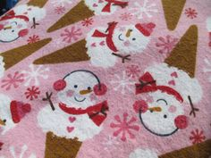 Sweet Snowman Ice cream Cones in a soft by LindasQuiltedGarden