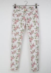 Second Hand Hose, Blumen, Slim-Fit, 7,00€