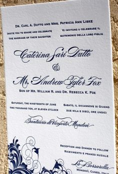 Are You Thinking about Bilingual <br/ > Wedding Invitations Designs? Photo