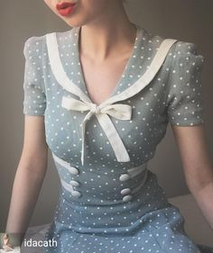 c776a3754ef Late mint sailor dress Looks like what every repro dress is based on