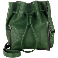 3.1 Phillip Lim Green Leather Scout Drawstring Bag (6,465 CNY) found on bucket bags桶袋20130617