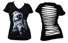 BikerOrNot Store - The Walking Dead - Ladies Daryl Dixon Slashed T-Shirt, $24.97 (http://store.bikerornot.com/the-walking-dead-ladies-daryl-dixon-slashed-t-shirt/)