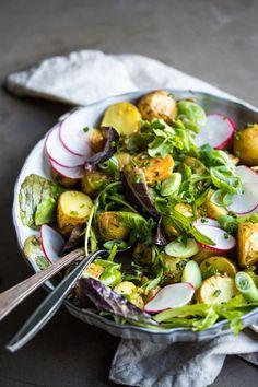 Vegan Potato Salad with Maple Mustard Dressing