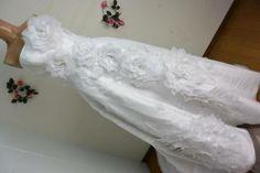 B30103●ウエディングドレス 衣装 白×花キラリ 高級感 9号 - ヤフオク!
