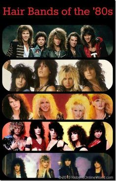 Hair Bands of the 80s