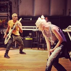 'Off to jazzfest': Stefani rehearsed beside No Doubt bassist Tony Kanal in an Instagram ph...