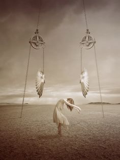 Without. From series of surreal photo manipulations by digital artist Amandine Van Ray