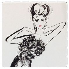 'Fashion Society Girl' Illustration by Susan Chung, Instagram @susanchungfashion