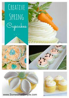 Creative spring cupcakes