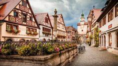 Wonderful Little Town In Germany Rothenburg Ob Der Tauber Full Hd