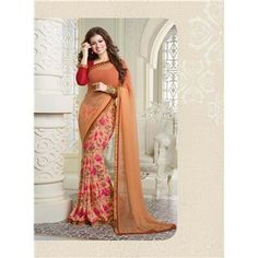 Saiveera New Arrival Ayesha Orange Flower Designer Half N Half Printed Georgette Formal Saree/sari Saiveera Fashion Is a Best Manufacturer, Exporter,Wholesaler, As well as Best and dealer,Retailar Of Designer,Embroidery Wedding Sari,Kids Lahenga Choli,Salwar Suit,Dress Material,etc.in surat Textile Market. Also Mainly Focus On Style,Choice,Fabric. So Saiveera Fashion Also Made Designer,Cotton,Fancy,Saree,Embroidery ,Wedding, Partywear,For More Query Please Call Or Whatsapp- +91 8469103344