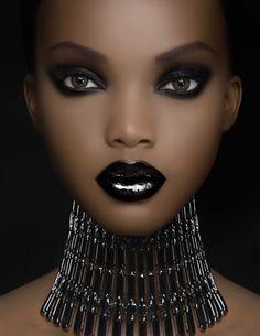 Lèvres noires...