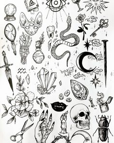 Discover recipes, home ideas, style inspiration and other ideas to try. Kritzelei Tattoo, Doodle Tattoo, 13 Tattoos, Unique Tattoos, Cute Tattoos, Small Tattoos, Spider Tattoo, Snake Tattoo, Sleeve Tattoos