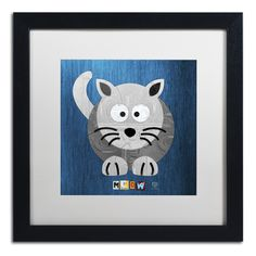Meow The Cat by Design Turnpike Framed Graphic Art