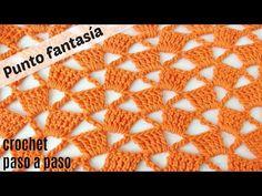 PUNTO FANTASÍA CROCHET CUADROS INCLINADOS / HANDWORK DIY - YouTube