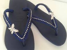 Resultado de imagen para sandalias havaianas decoradas paso a paso