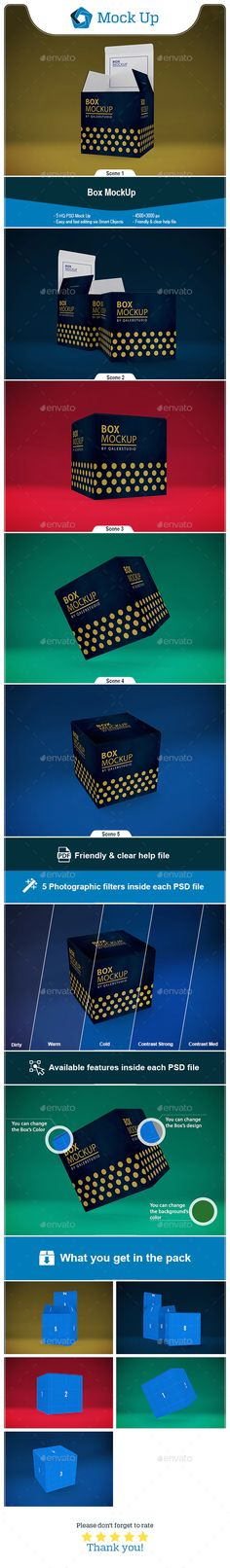 Product Mockups - Box MockUp - Product Mockups by QalebStudio. Box Mockup, Mockup Templates, Print Templates, Graphic Design Templates, Best Graphics, User Interface, Monday Motivation, Presentation Templates, Infographic