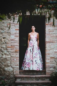 A Floral Wedding Gown For A Rustic Style, Summer Garden Party Feast in Italy | Love My Dress® UK Wedding Blog