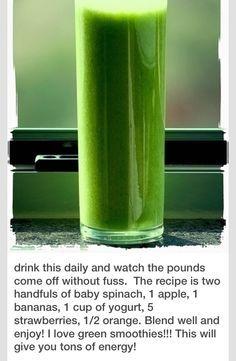 BEST Green Smoothie So Yummy