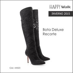 NEW IN: Bota Deluxe Recorte a Laser: linda, luxuosa e sexy!   #happywalk #bota #deluxe #recortealaser #newcollection2015 #inverno2015 #fashion #fashionistas #welovehappywalk #lojaonline #shoponline