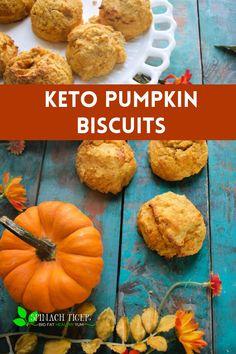 Keto Pumpkin Biscuits, Gluten free, Paleo, Diabetic Friendly. #pumpkinbiscuits #keto #paleo #glutenfreebaking #ketobaking #spinachtiger Pumpkin Biscuits Recipe, Savoury Biscuits, Gluten Free Biscuits, Keto Biscuits, Biscuit Recipe, Gluten Free Baking, Gluten Free Recipes, Low Carb Recipes, Paleo Baking