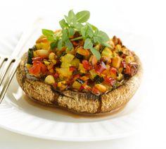 Receitas - Cogumelos Recheados com Legumes - Petiscos.com