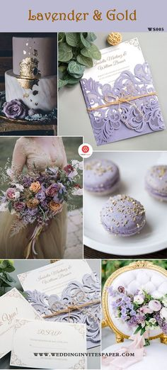 100 + Must Have Gold Color Palette to Wow Your Guests---gold and lavender, weddi. 100 + Must Have Gold Color Palette to Wow Your Guests---gold and lavender, wedding centerpieces, affordable wedding invi. Gold Wedding Colors, Wedding Color Schemes, Purple Wedding, Wedding Themes, Floral Wedding, Wedding Cakes, Wedding Decorations, Wedding Ideas, Lavender Wedding Theme