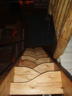 Lapeyre Style Loft Stairs - Reader's Gallery - Fine Woodworking - clever idea for steep stairs