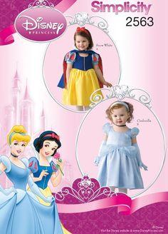 Disney PRINCESS Halloween Costume Pattern - Cinderella Snow White Costumes