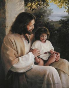 one of my favorite pictures of Christ.  When Adrienne was 2 I thought this little girl looked so much like her!