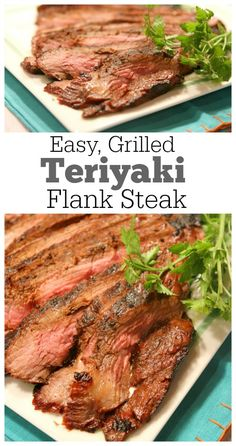 Easy, Grilled Teriyaki Flank Steak Recipe : turns out a very flavorful and tender meat.  This is a family friendly meal that is perfect for summer grilling.