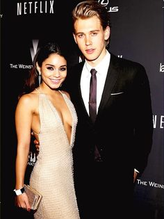Vanessa Hudgens and Austin Butler at Weinstein Company Golden Globes 2014 After-Party