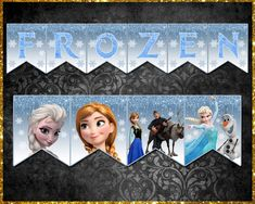 Frozen Banner Frozen Banner, Frozen Party, Bunting, Etsy Store, Your Design, Banners, Vibrant Colors, Card Stock, Decorations