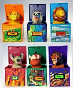 Burger King Disney The Lion King Lot of 6 Premium Finger Puppet Toys - http://hobbies-toys.goshoppins.com/fast-food-cereal-premium-toys/burger-king-disney-the-lion-king-lot-of-6-premium-finger-puppet-toys/