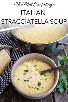 Italian Stracciatella Soup is a simple Italian Soup made with broth, eggs and parmesan cheese. A classic Roman Soup Recipe, perfect for cold winter days. Make it with a homemade broth or store bought, ready in 5 minutes. The is the best and most comforting easy soup recipe you will try! #soup #dinner