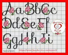 Cross Stitch Letters, Cross Stitch Rose, Stitch 2, Embroidery Letters, Cross Stitch Embroidery, Hand Embroidery, Listerine, Monogram Letters, Letters And Numbers