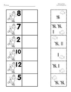 math worksheet : freebie  reading writing and math printable pages perfect for  : Tally Mark Worksheets For Kindergarten