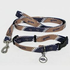 Dog lover and Milwaukee Brewers fan? Get your best friend a Brewers Dog Collar, Leash, & ID Tag Set. #MilwaukeeBrewers #DogLover