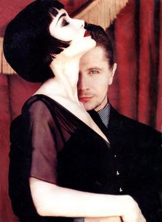 Winona Ryder looking like a modern day Louise Brooks. That is Gary Oldman behind her!