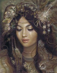 Indian~owl~woman