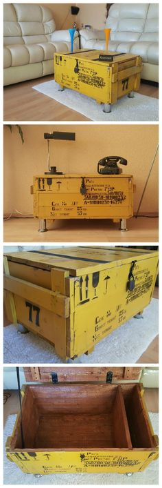 Shabby and upcycled freight crate / DIY / Upcycling