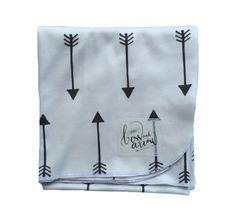 Organic arrow swaddle baby blanket. {little bow and arrow}