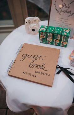 10 Wedding Guest Book Alternatives – Ideas For Your Wedding Wedding Reception Ideas, Wedding Book, Fall Wedding, Diy Wedding, Rustic Wedding, Wedding Planning, Dream Wedding, Wedding Country, Polaroid Wedding Guest Book