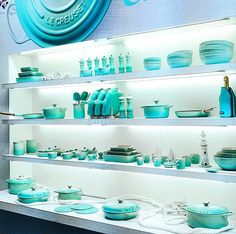 Le Creuset in Cool Mint - Due to be launched in September in South Africa. I cannot wait, finally I have found my colour!