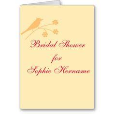 Bridal Shower Wedding Stationary  customize Cards