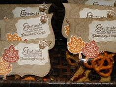 thanksgiving gifts - the meaning of all the goodies in the bag is on this website too.