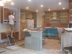 *The Thrifty Home: Kitchen Remodel - Painting Cabinets